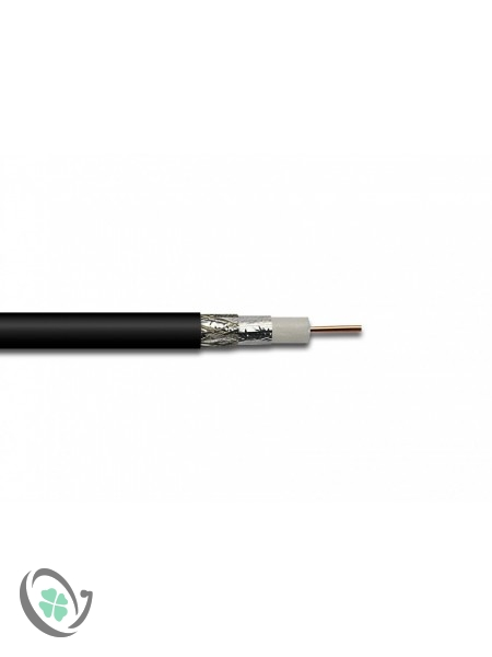 1m RG6 Satellite Cable (Black or White)