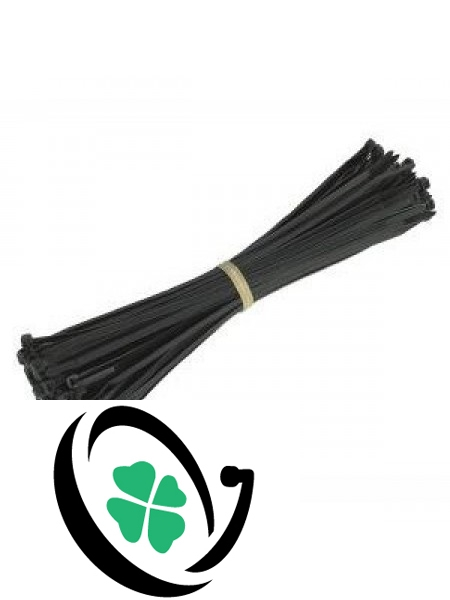 Black 200mm x 3.6mm Cable Ties (100 Pack)