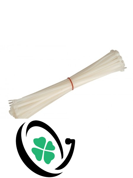 White 200mm x 3.6mm Cable Ties (100 Pack)