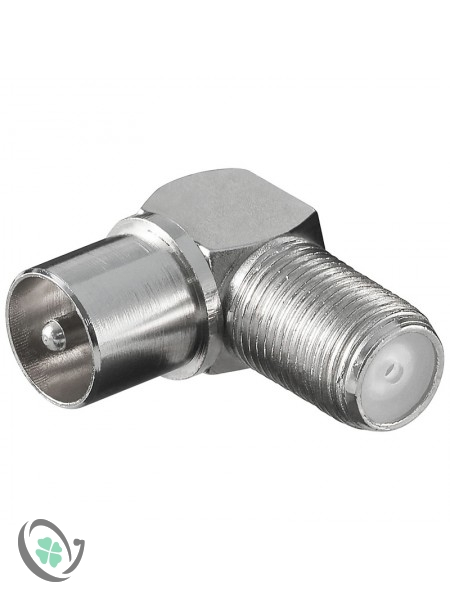 Coaxial Male Plug to F Female Jack Adapter 90 Degree (1)