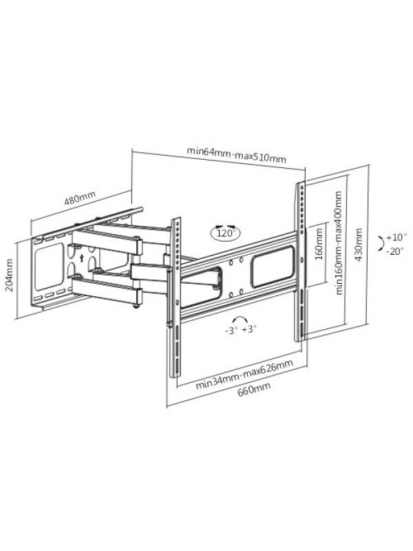 cantilever bracket for 37 u0026quot   led  plasma