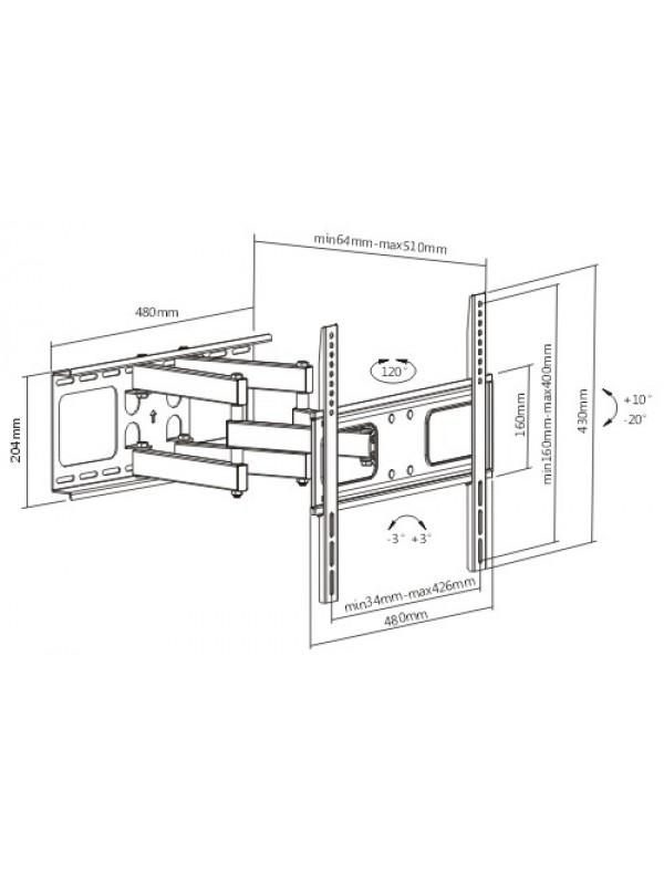 cantilever bracket for 32 u0026quot   led  plasma
