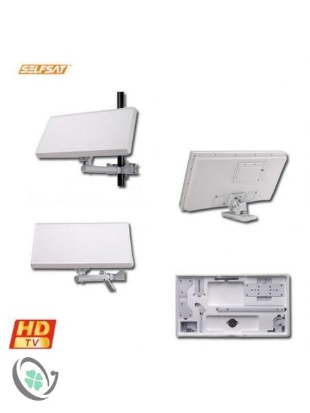 SelfSat Flat Panel Satellite Dish (Quad Output)
